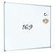 Dry Wipe Projection Whiteboard 160x90 - Aluminium