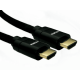 0.5m 8K HDMI 28awg Black Aluminium Hood, Black Braided Cable