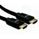 3m 8K HDMI 28awg Black Aluminium Hood, Black Braided Cable