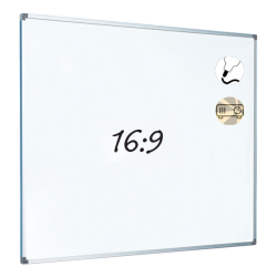 Dry Wipe Projection Whiteboard 160x90 - Aluminium