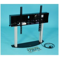"Ra technology RA Media Mate PRO Riser 85"" Fixed flat panel floor stand Black"