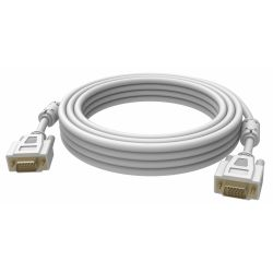 Vision 2x VGA 15-pin D-Sub, 5m VGA cable VGA (D-Sub) White