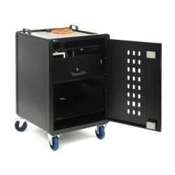 Loxit 6100 Portable device management cart Black