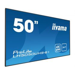 "iiyama LH5050UHS-B1 signage display 127 cm (50"") LED 4K Ultra HD Video wall Black"