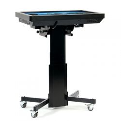 "Loxit 8514 55"" Portable flat panel floor stand Black flat panel floorstand"