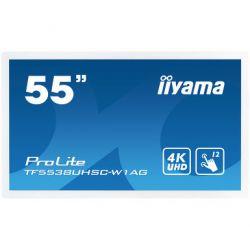 iiyama ProLite TF5538UHSC-W1AG touch screen monitor 3840 x 2160 pixels White Multi-touch Multi-user