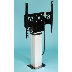 "Ra technology RA-MEDIA-MATE-MONITOR-RISER 75"" Fixed flat panel floor stand Black, White flat panel floorstand"