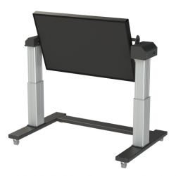 "Loxit 4500 65"" Portable flat panel floor stand Black, Silver flat panel floorstand"