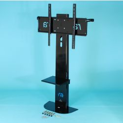 "Ra technology RA-ATLAS-55-65-FS 65"" Fixed flat panel floor stand Black flat panel floorstand"