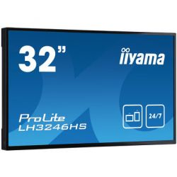 "iiyama LH3246HS-B1 signage display 80 cm (31.5"") LED Full HD Digital signage flat panel Black"