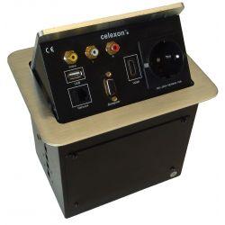 Celexon tilted AV desk face plate Expert TA-300S - Silver