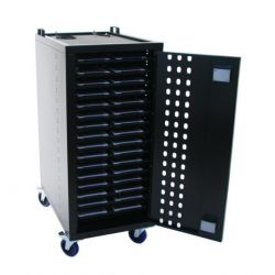Loxit 7530 Portable device management cart Black