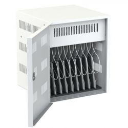 Loxit 7708 Portable device management cabinet White