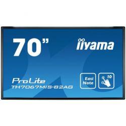 "iiyama ProLite TH7067MIS-B2AG touch screen monitor 176.5 cm (69.5"") 1920 x 1080 pixels Black Multi-touch Multi-user"