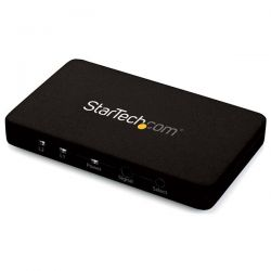 StarTech.com 2-Port HDMI automatic video switch w/ aluminum housing and MHL support – 4K 30Hz
