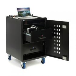 Loxit 6103 Portable device management cart Black