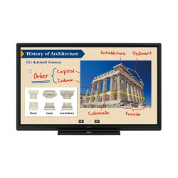 "Sharp PN-80SC5 Interactive Display touch screen monitor 2.03 m (80"") 1920 x 1080 pixels Black Multi-touch"