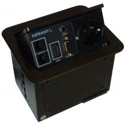 Celexon tilted AV desk face plate Expert TA-100B - Black