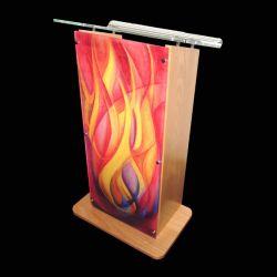 PRO AV Wood And Acrylic Lectern - 01