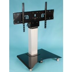 "Ra technology RA-MEDIA-MATE-MONITOR-MOBILE-XL 86"" Portable flat panel floor stand Black, Silver flat panel floorstand"
