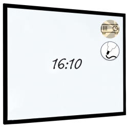 Dry Wipe Projection Whiteboard 160x100 - Black frame