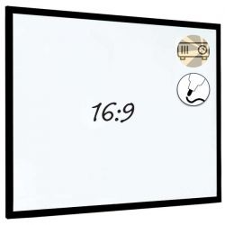 Dry Wipe Projection Whiteboard 160 x 90 - Black frame