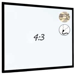 Dry Wipe Projection Whiteboard 160x120 - Black frame