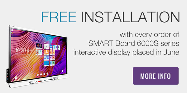 SMART Board 6000S series interactive displays with free installation