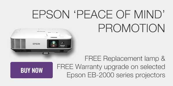 Epson Peace of Mind projector promotion
