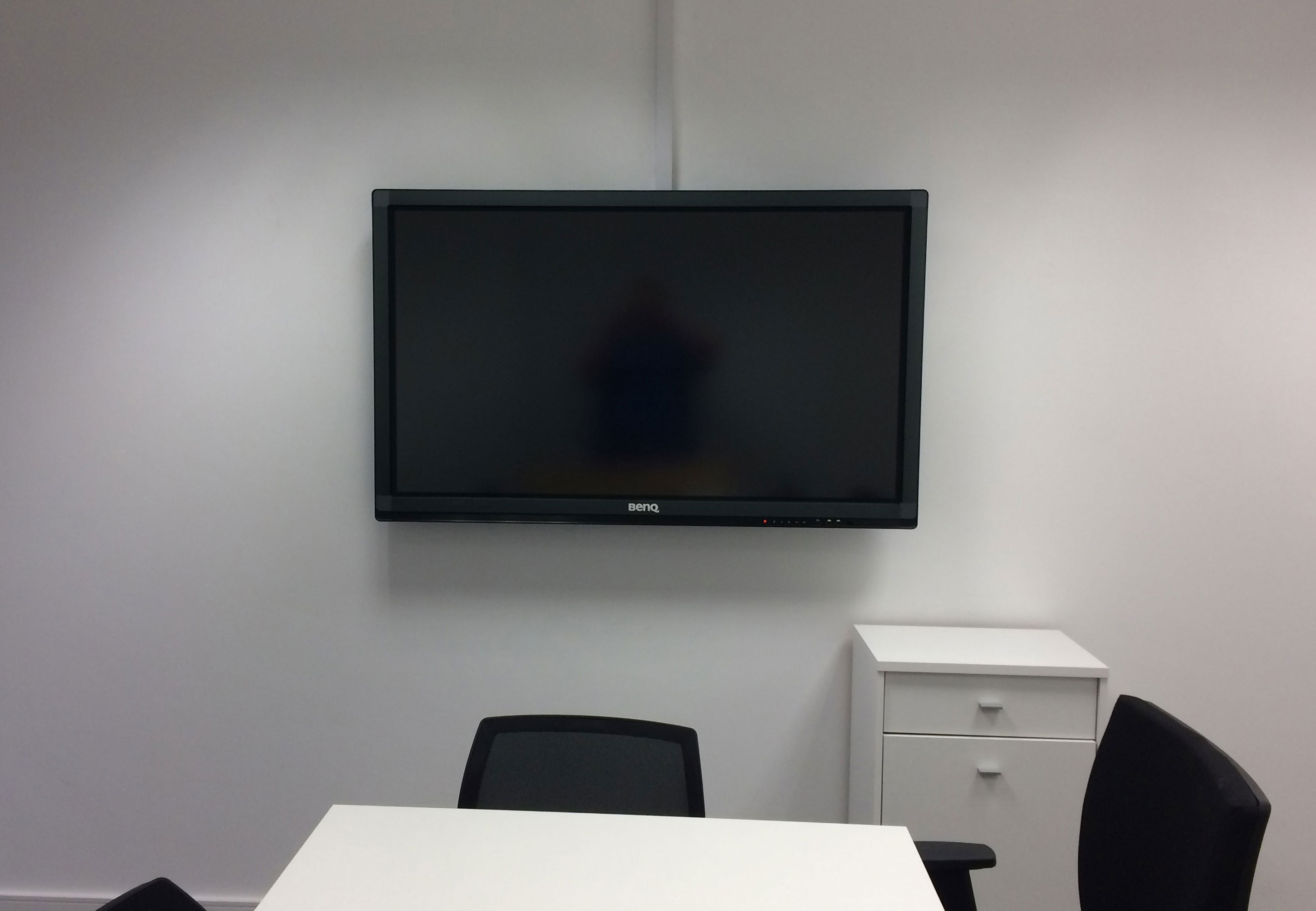 Interactive display in boardroom
